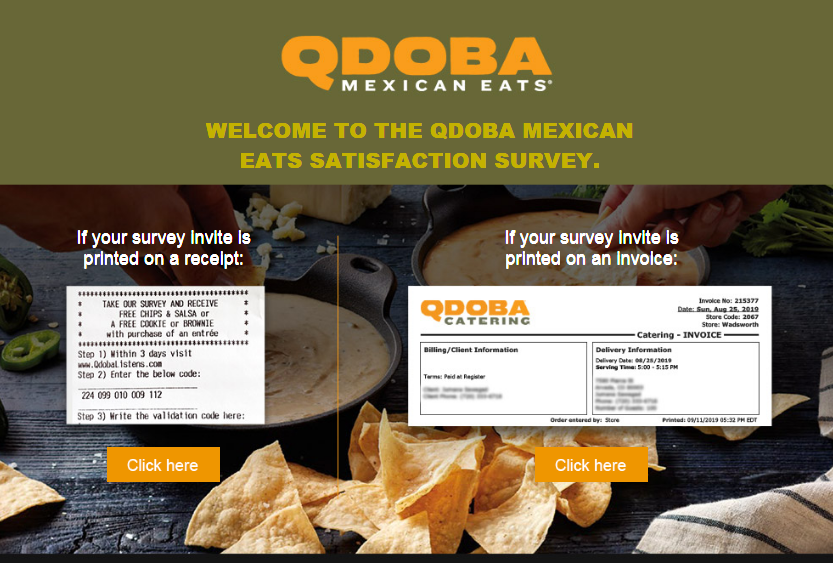 Qdoba Customer Feedback Survey