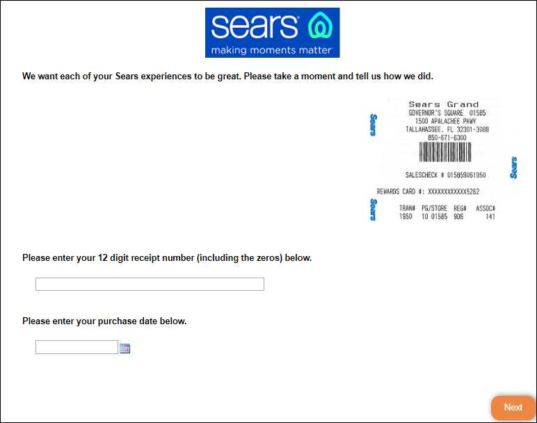 Sears Guest Experience Survey