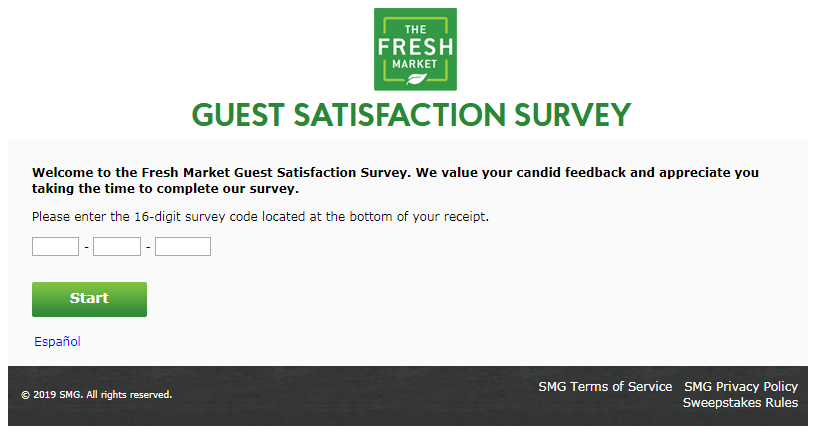 The Fresh Market Guest Satisfaction Survey