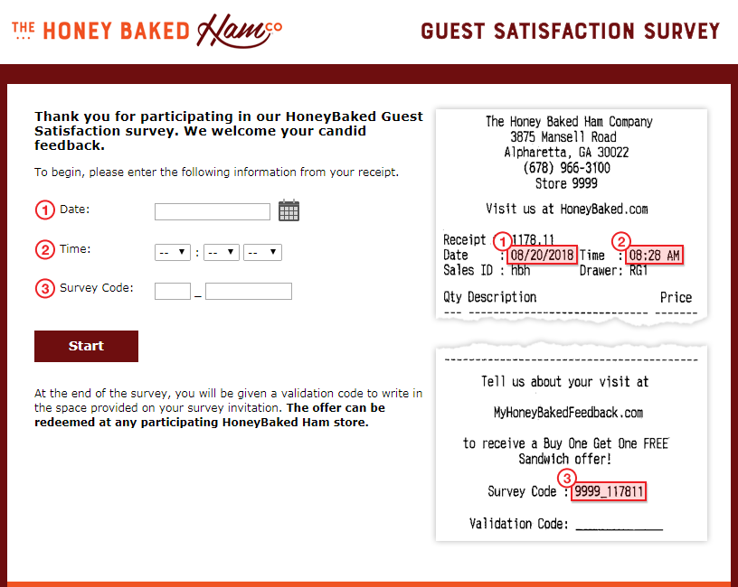 Honey Baked Ham Customer Feedback Survey