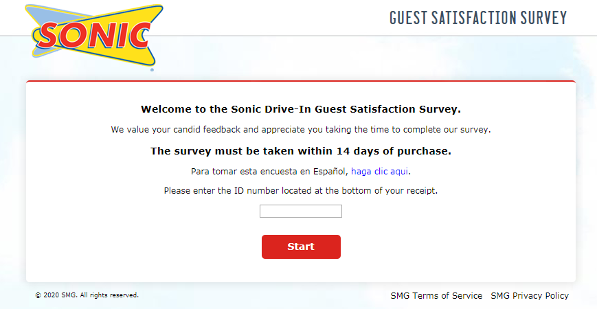 Talk To Sonic Customer Satisfaction Survey