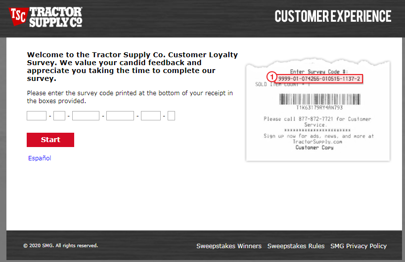 TSCO Tractor Supply Guest Experience Survey