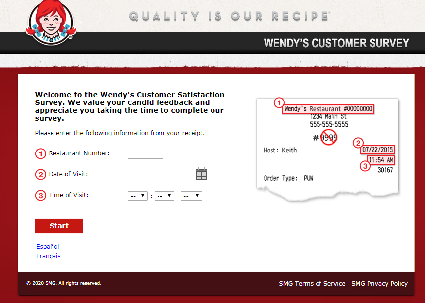 Wendy's Wants To Know Customer Experience Survey