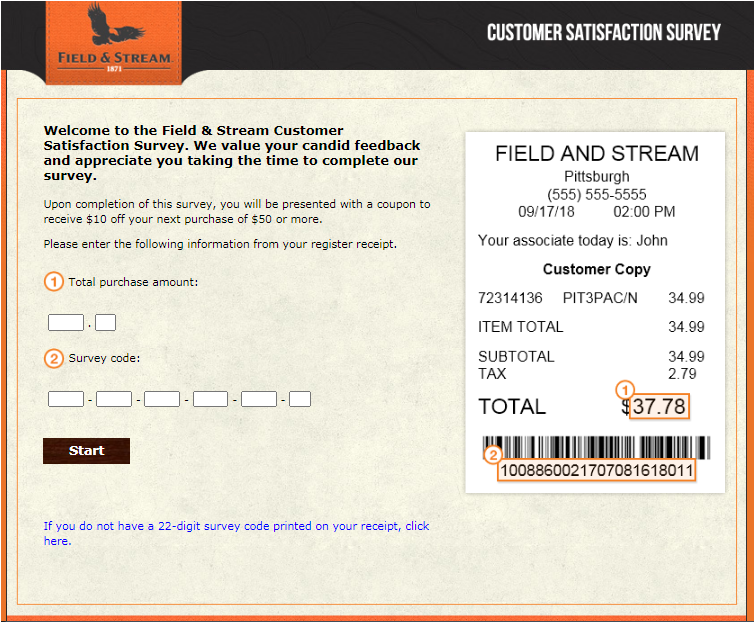Field and Stream Guest Satisfaction Survey