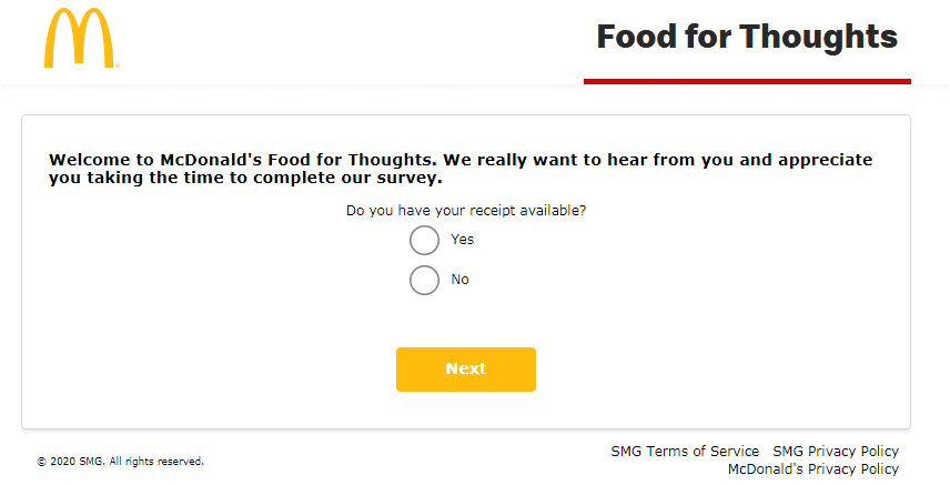 MCDFoodForThought Survey 2020