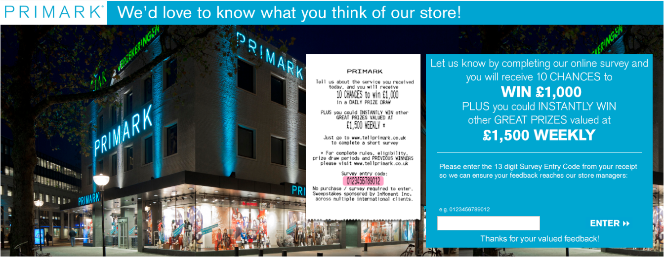 Primark Customer Experience Survey